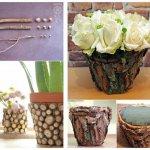 تزیین گلدان با وسایل ساده
